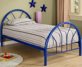 Blue Twin Metal Bed