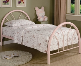 Pink Twin Metal Bed