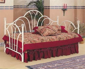 Twin Metal High Back Daybed with Filligree Knobs