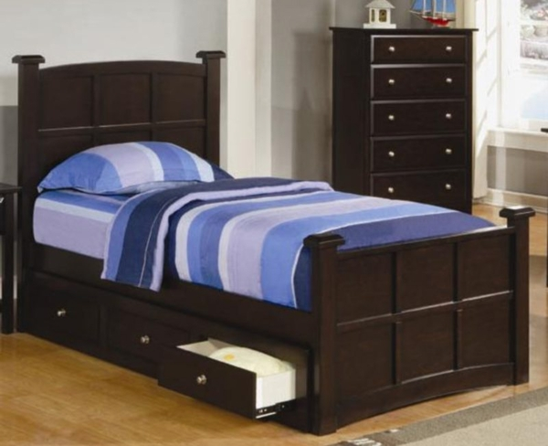 Twin Storage Bed With Drawers By Coaster Furniture 400751t