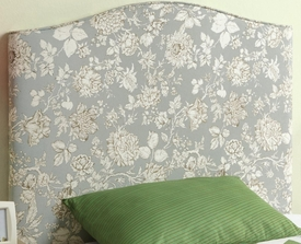 Twin Upholstered Headboard with Floral Pattern