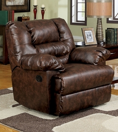 Two Tone Bonded Leather Recliner