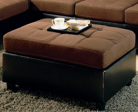 Chocolate and Brown Two Tone Ottoman
