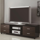 Two Tone TV Stand with 4 Drawer & 2 Shelves