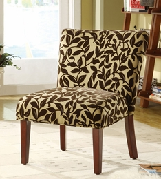 Vine Fabric & Wooden Leg Chair
