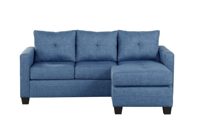 Wondrous Phelps Blue Reversible Sectional Furniture 4 Less Dallas Bralicious Painted Fabric Chair Ideas Braliciousco