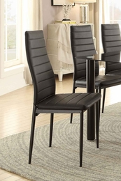 Florian Black Side Chair (2pk)
