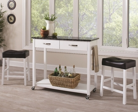 White 3-Pc Cart Set # 102134