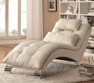 White Accent Chaise with Sophisticated Modern Look