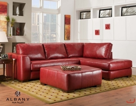 Modern Red Bonded Leather Sectional by Albany BLOWOUT SALE! DISC.