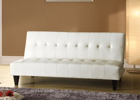 White Bycast PU Adjustable Sofa Set