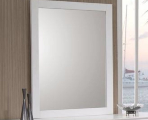 White Finish Dresser Mirror