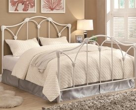 White Iron Queen Bed