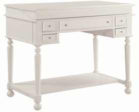 White Writing Desk with Lift-Top
