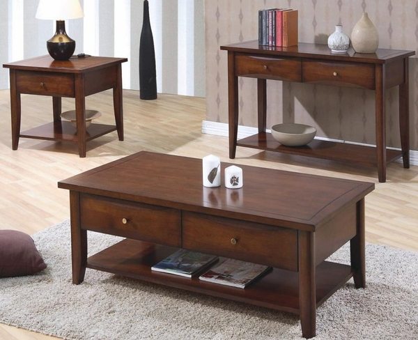 Walnut Finish Whitehall Collection 3-pc Set