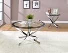Contemporary Glass Round Coffee Table