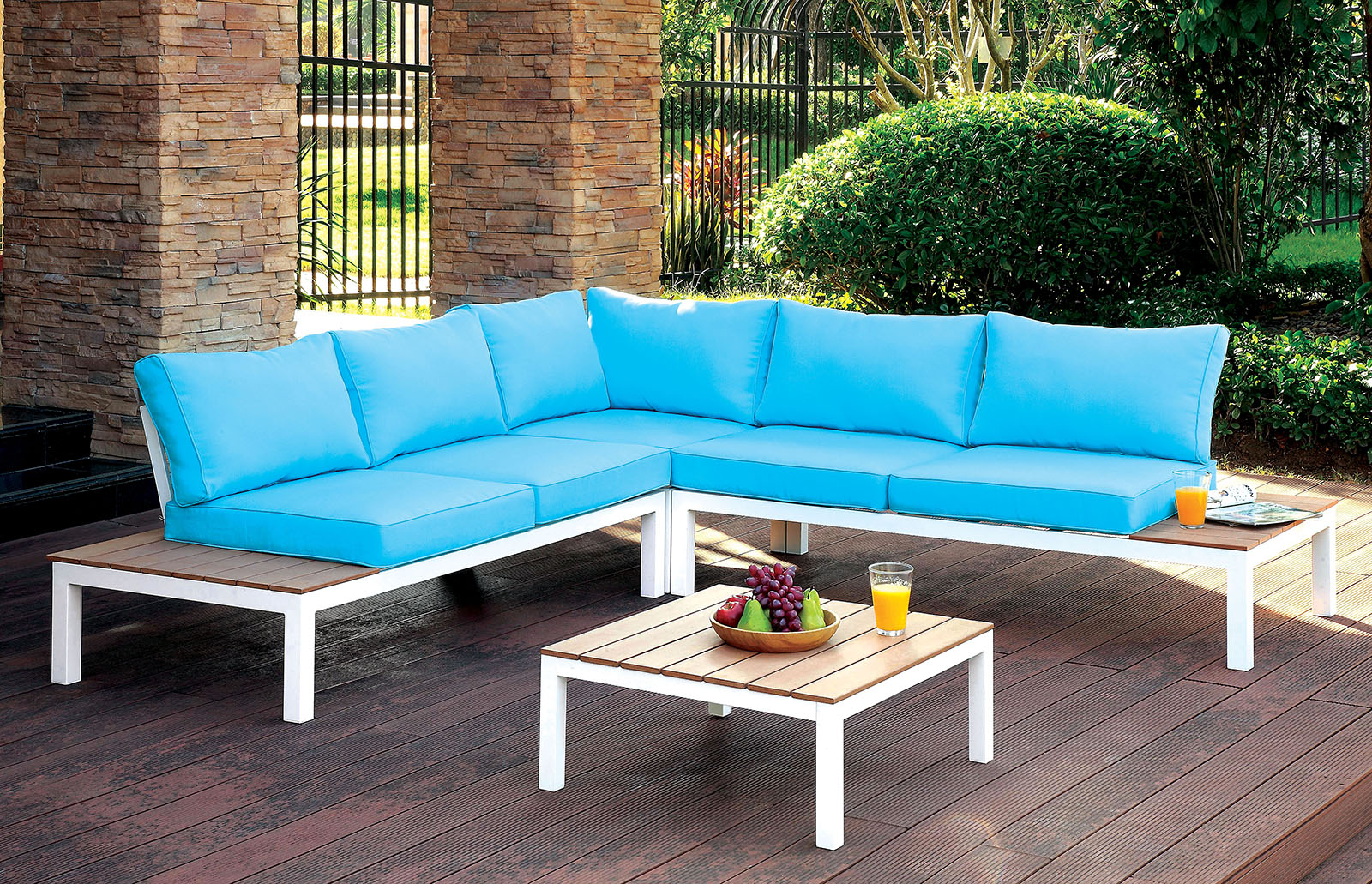 Winona patio set by furniture of america cm os2580 for Furniture of america dallas texas