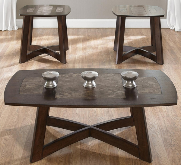 Wood 3-Pc Coffee Table Set