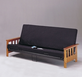 Wood Arm Futon w/Mattress