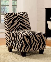Zebra Fabric Upholstery Chair
