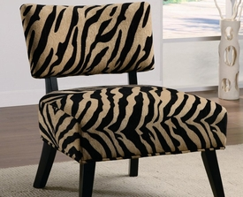 Zebra Print Accent Upholstered Side Chair