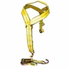 Basket Strap with 2 DOUBLE J Hooks & Ratchet