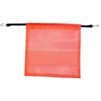 """*RED*18"""" x18"""" FLAG w/BUNGEE"""