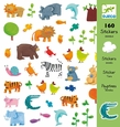 Animals - 160 Stickers
