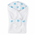 Baby Bath Wrap - fluro blue