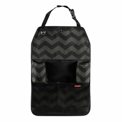 BACKSEAT ORGANIZER - TONAL CHEVRON