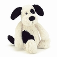 Bashful Black&Cream Puppy-Medium