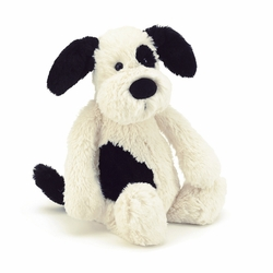 Bashful Black & Cream Puppy-Small
