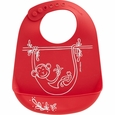 Bib: Monkey Business - Red