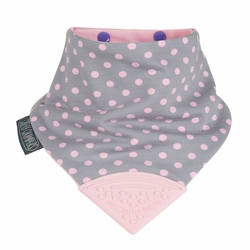 CHEEKY CHOMPERS NECKERCHEW Polkadot Pink