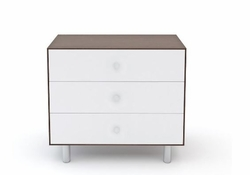 CLASSIC MERLIN 3 DRAWER DRESSER - WALNUT/WHITE