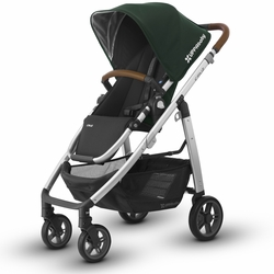 CRUZ Stroller -  Austin (Hunter/Silver/Leather)