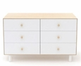 FAWN MERLIN 6 DRAWER DRESSER - BIRCH/WHITE