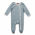 Footed Romper Blue stripe