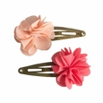 Hair Clips Fluffy Flower Rose