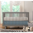 Hudson 3-in-1 Convertible Crib w/ Toddler Rail: Grey
