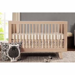Hudson 3-in-1 Convertible Crib w/ Toddler Rail: Washed Natural