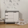 Hudson Changer Dresser (No pad): Grey/White