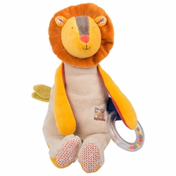 Lion Doll with Ring Rattle - Les Papoum