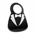 Make My Day baby Bib - Black Tuxdo
