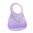 Make My Day baby Bib - Lilac w/ Jewels