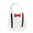 Make My Day baby Bib - Scholar White