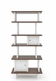 MINI LIBRARY - VERTICAL WALNUT/WHITE