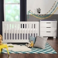 Modo 3-in-1 Convertible Crib w/ Toddler Rail: White
