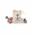 Nautical ABC Blocks w/ Canvas Bag