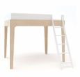 PERCH FULL SIZE LOFT BED - WHITE/BIRCH
